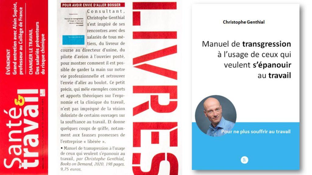 Santé & Travail Avis sur le Manuel de transgression Christophe Genthial psychologue à Marseille